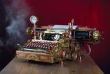 Steampunk Typewriter Plakat av  3355m