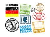 Stamps With Germany Premium Giclée-tryk af  radubalint