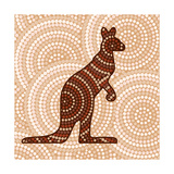 Aboriginal Abstract Art Poster di  Piccola