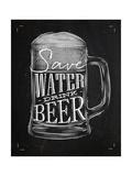 Poster Drink Beer Chalk Premium Giclée-tryk af  anna42f