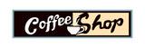 Coffee Shop Sign Or Banner Juliste tekijänä Bigelow Illustrations