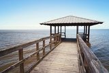 Rustic Wooden Fishing and Swimming Pier Fotografie-Druck von  forestpath