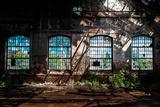Abandoned Industrial Interior with Bright Light Fotoprint av  maroti
