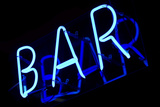 Abstract Neon Sign Bar Poster af  kirza