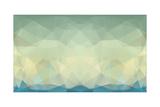 Abstract Triangle Art in Pastel Colors Kunstdrucke von  artnis