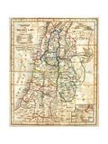 Old Karte von The Holy Land Kunstdrucke von  Tektite