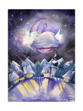 Moon Premium Giclee Print by  DannyWilde