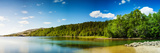 Panoramic Long Exposure Shot of A Lake in Northern Norway Photographic Print by  Lamarinx
