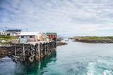 Aproaching A Small Harbor in Northern Norway Fotografisk trykk av  Lamarinx