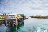 Aproaching A Small Harbor in Northern Norway Photographic Print by  Lamarinx