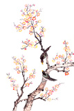 Traditional Chinese Painting Of Plum Blossom Kunstdrucke von  aslysun