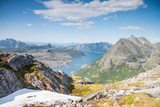 Fjord and Mountains in Northern Norway Photographic Print by  Lamarinx