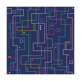 Linear Abstract Pattern Poster tekijänä Jelena Z