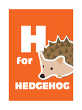 H For The Hedgehog, An Animal Alphabet For The Kids Lámina giclée prémium por Elizabeta Lexa
