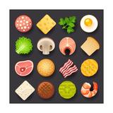 Food Icon Set Posters tekijänä  kolopach