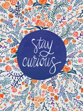 Stay Curious in Navy and Red Giclée-Druck von Cat Coquillette