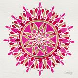 Mandala in Pink and Gold Giclée-vedos tekijänä Cat Coquillette