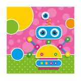 Cute Robot Greeting Card Posters tekijänä Jelena Z