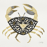 BlackGold-Crab-Artprint Giclée-Druck von Cat Coquillette