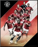 Manchester United - Players 17/18 Mounted Print