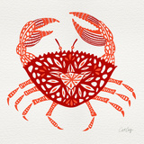 Crab in Red Giclée-Druck von Cat Coquillette