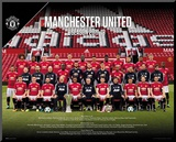Manchester United - Team 17/18 Mounted Print