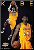 Kobe Bryant Los Angeles Lakers Nba Sports Poster Mounted Print