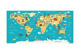 Animals World Map Poster von  coffeee_in