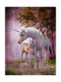 Unicorn Mare and Foal Posters tekijänä Corey Ford