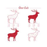 Deer Meat Cut Scheme Poster von  ONiONAstudio