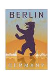 Berlin Vintage Poster Kunst von  paulrommer