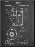 Vintage Coffee Pot Patent Pohjustettu vedos