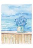 Coastal Hydrangea Ocean View Posters av Beverly Dyer