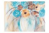 Teal Brown Garden Bouquet Poster av Beverly Dyer