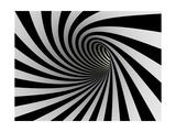 Tunnel Of Black And White Lines Julisteet tekijänä  iuyea