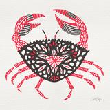 Crab in Pink and Grey Lámina giclée por Cat Coquillette