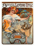 Biscuits Lefevre Utile Giclee Print by Alphonse Mucha