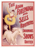 Compañía circense Forepaugh and Sells United Lámina giclée
