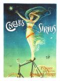 Sirius-Fahrräder (Postkarte in Übergröße) Giclée-Druck von  PAL (Jean de Paleologue)