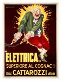 Elettrica Cattarozzi Cognac Giclee Print by Achille Luciano Mauzan
