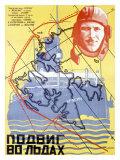 Heroes of the Arctic Ice Impressão giclée por Mikhail O. Dlugach