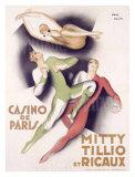 Mitty Tillio and Ricaux Impressão giclée por Paul Colin