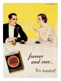 Lucky Strike Cigarette Giclee-trykk av Howard Chandler Christy