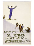 Rennen Der Schweiz, Ski Gicléetryck av Emil Cardinaux