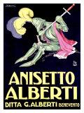Anisetto Alberti Giclée-Druck von Achille Luciano Mauzan