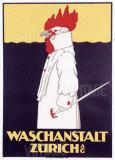 Waschanstalt Zurich Gicléedruk van  Hardmeyer