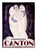 Fourrures Canton, 1924 Giclee Print by Charles Loupot