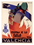 Festividad de Fallas Valencia Giclée-tryk af Arturo Ballester