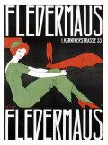 Fledermaus Giclée-tryk af Fritz Langer