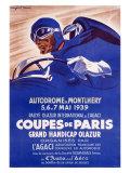 Autorennen: Coupes de Paris Giclée-Druck von Geo Ham
